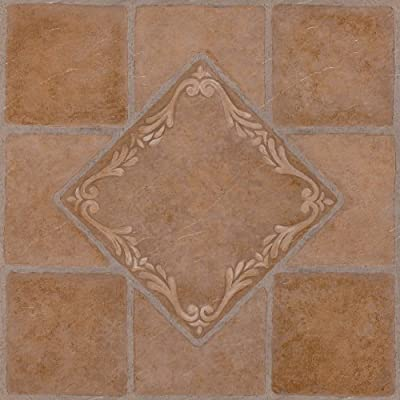 Achim Home Furnishings FTVMA44520 Nexus 12-Inch Vinyl Tile, Southwest Ceramic, 20-Pack