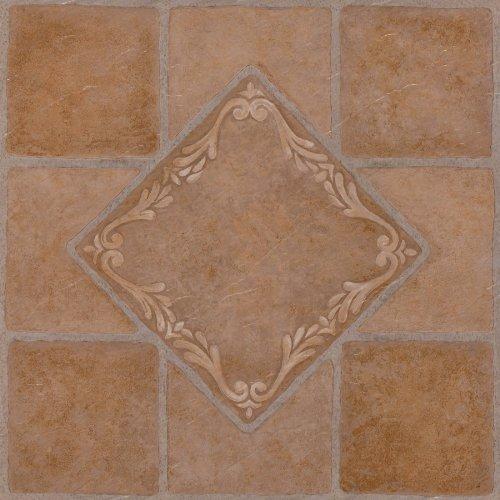 Achim Home Furnishings FTVMA44520 Nexus 12-Inch Vinyl Tile, Southwest Ceramic, 20-Pack, South West