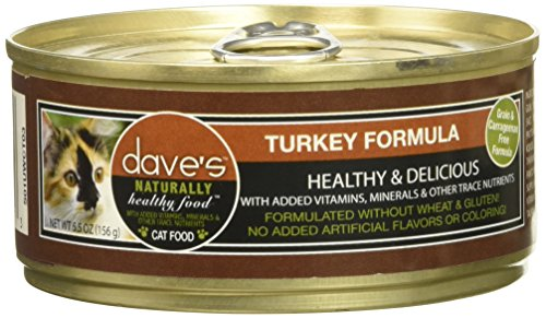 Dave'S Naturally Healthy Turkey Formula For Cats, 5.5 Oz Can (Case Of 24 -