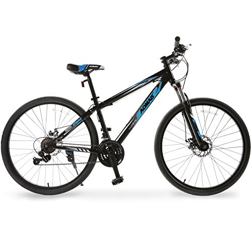 Murtisol Mountain Bike 27.5'' Hybrid Bicycle 21 Speed with Suspension/Dual Disc Brake in 4 Color