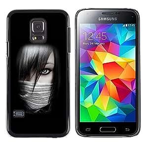 LECELL -- Funda protectora / Cubierta / Piel For Samsung Galaxy S5 Mini, SM-G800, NOT S5 REGULAR! -- Sexy Ninja Girl --