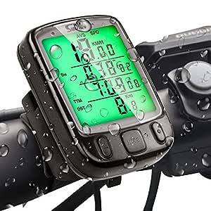 SuMille Bike Velocímetro Odómetro Bike Ordenador Retroiluminación ...