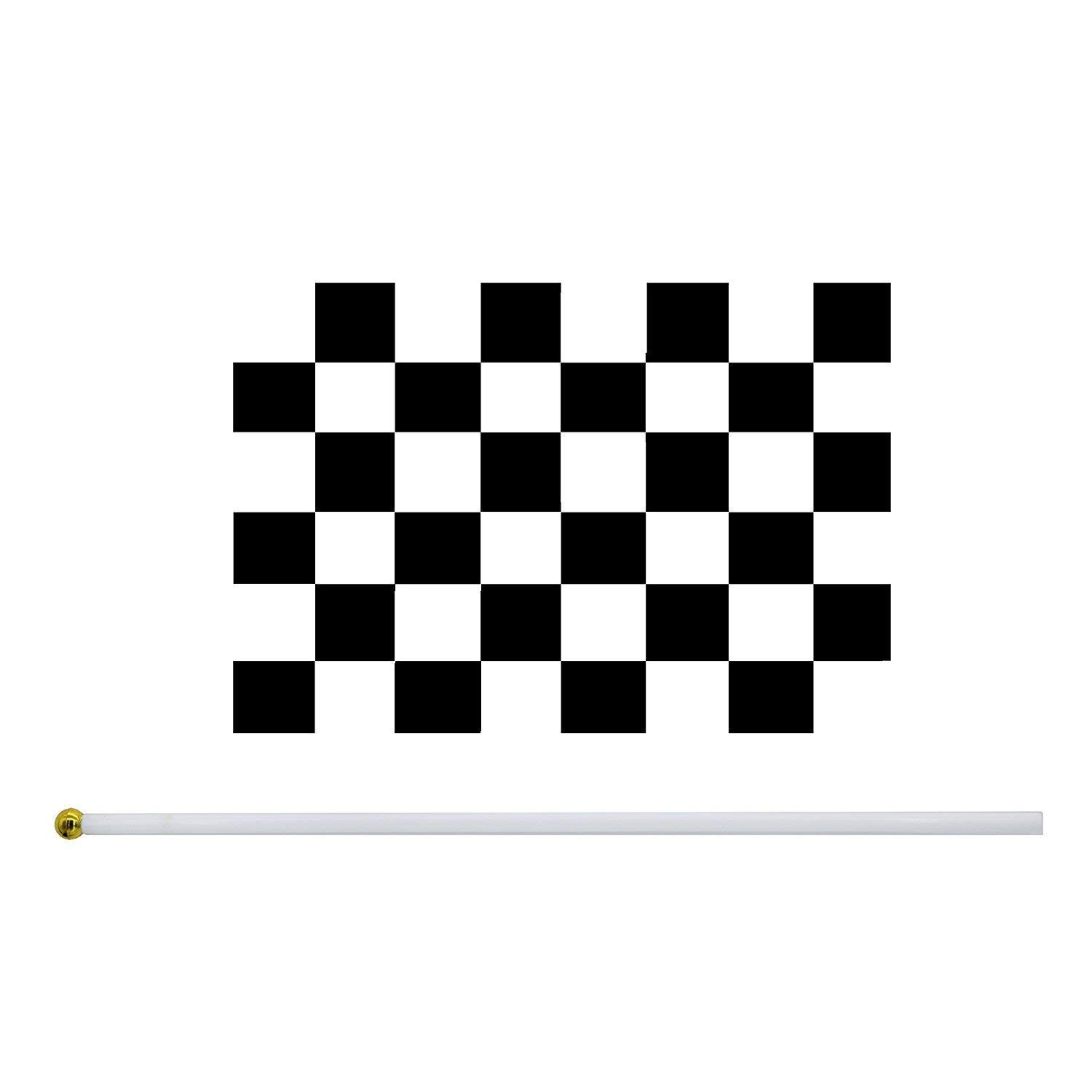 e41d3583335d0 25 Pieces Checkered Flag 8 x 5.5 Inch Racing Polyester Flags on ...