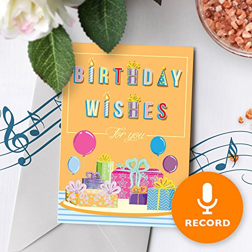 Birthday Wishes Greeting Card With Music | Custom Birthday Card, Personalized Birthday Card, Singing Greeting Card 00015 (10sec ()