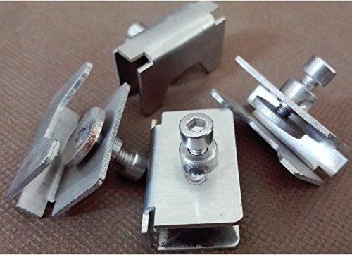 4pcs riscaldata Bed vetro morsetto con clip in acciaio INOX speciale per stampante 3D RepRap 3D Printer Accessories Parts