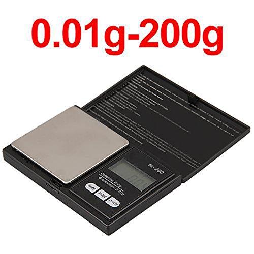 Mini Digital Scale with LCD Display, Electronic Elite Digital Pocket Scale 200 x 0.01g, Mini scales 200g, Mini Digital Weighing Scale