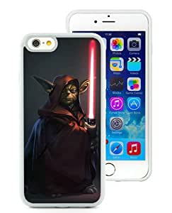 Excellent protection star wars yoda dark White TPU Cover Case For iPhone 6 (4.7)