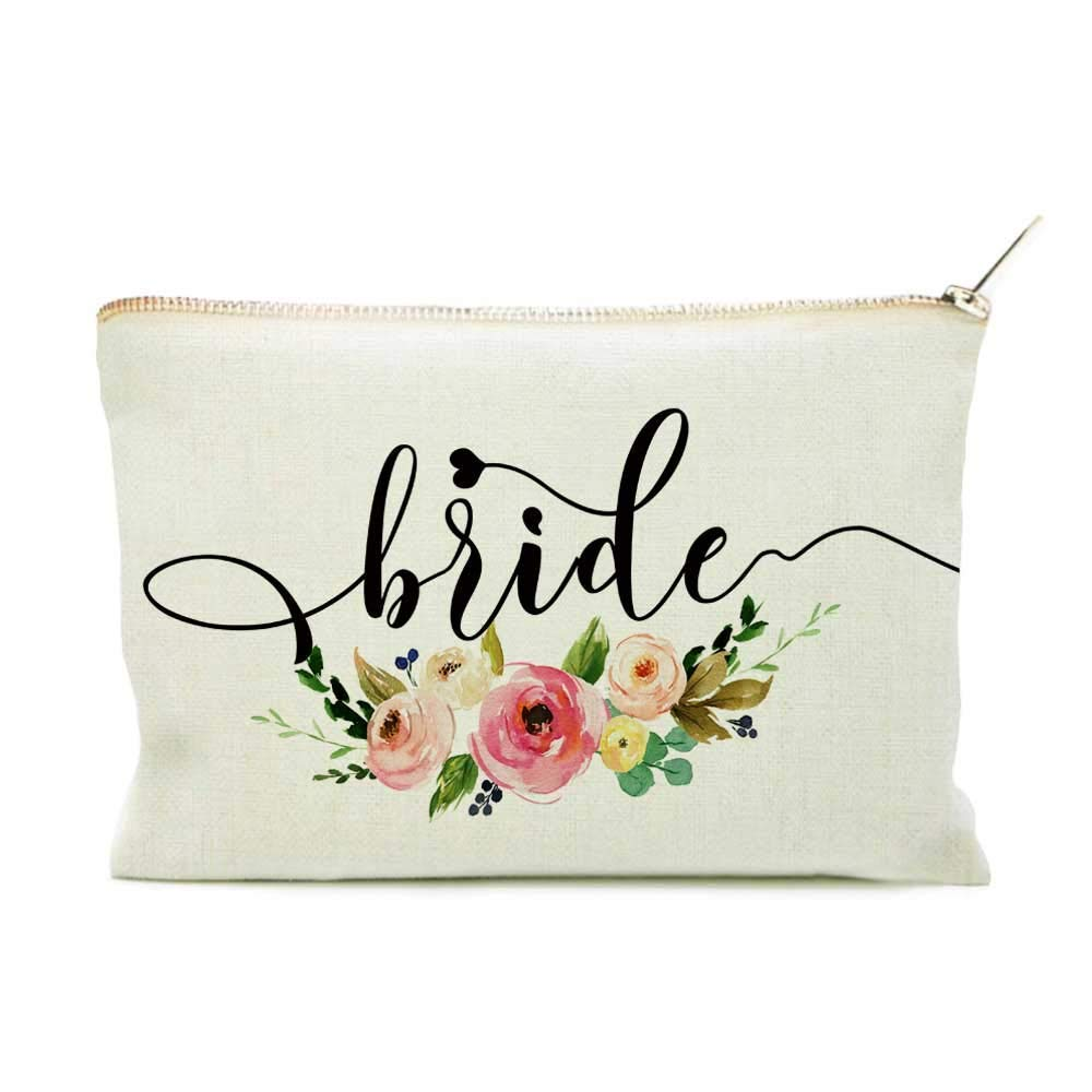 Bride Makeup Bag, Bridal Gift,Wedding Gift, Bridal Shower Gift, Bride Gift, Makeup Bag, Wedding Gift, Bridal Makeup Bag, Bride