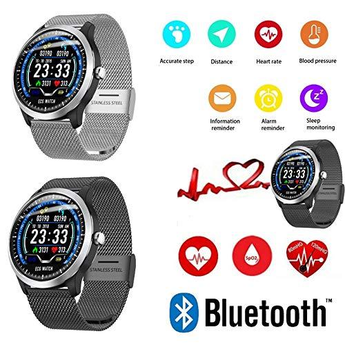 Amazon.com: N58 ECG Reloj deportivo HRV Reporte de presión ...