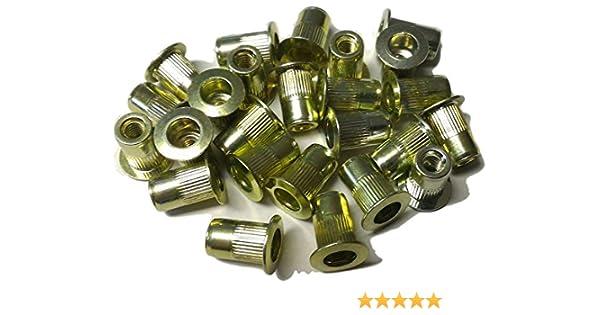 AKS6-32-130 Aluminum Thin-NUT Small Flange Plain Finish 6-32 x .080-.130 Grip Range Pack of 10