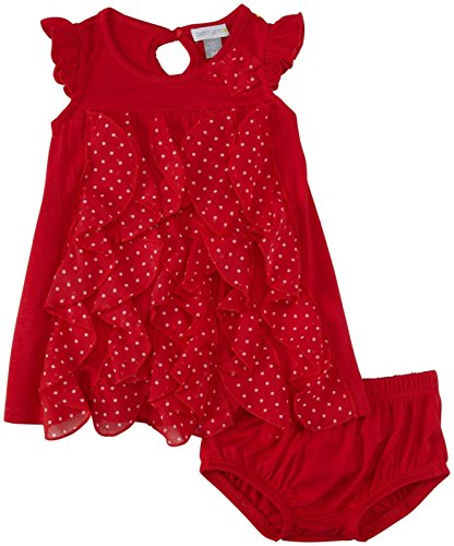 UPC 628221310960, Petit Lem Baby Girls' Retro Girl Sleeveless Dress with Pantie, Red, 12 Months