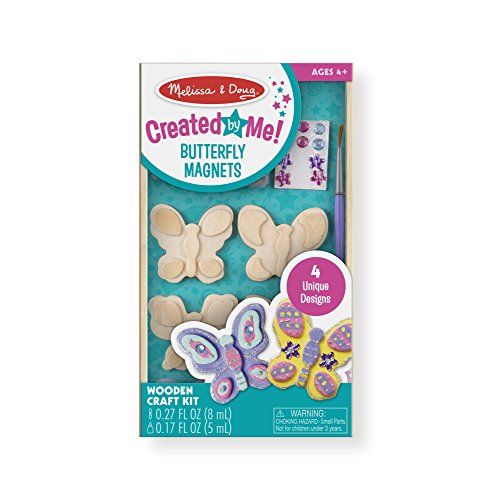 Toys : Melissa & Doug Decorate-Your-Own Wooden Butterfly Magnets Craft Kit