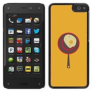 Caucho caso de Shell duro de la cubierta de accesorios de protección BY RAYDREAMMM - Amazon Fire Phone - Huevo Cocinar cartel del arte de la cocina de