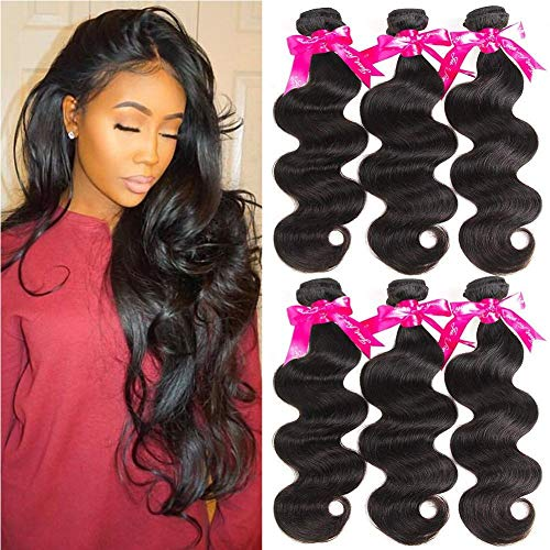 Beauty Princess Brazilian Virgin Hair Body Wave 3 Bundles 16 18 20inchs 8A Unprocessed Human Hair Weave Bundles Soft Remy Hair Weave (Best Beauty Supply Virgin Hair)