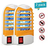 Kungber Bug Zapper with Storage Box UV Light Mosquito Killer Electronic Insect Killer Eliminates Most Flying Pests, Mosquito & Insect for Indoor Use (Yellow-2Pack)