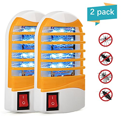 Kungber Bug Zapper with Storage Box UV Light Mosquito Killer Electronic Insect Killer Eliminates Most Flying Pests, Mosquito & Insect for Indoor Use (Yellow-2Pack) by Kungber
