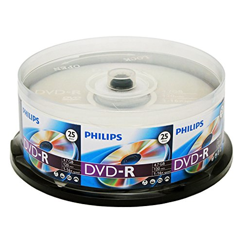Philips DM4S6B25F/17 25 Pack 16X DVD-R Spindle by Philips
