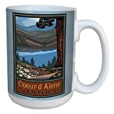 Tree-Free Greetings lm43273 Scenic Coeur D'Alene Idaho by Paul A. Lanquist Ceramic Mug with Full-Sized Handle, 15-Ounce, Multicolored