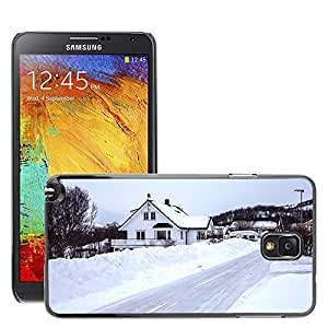 Hot Style Cell Phone PC Hard Case Cover // M00169395 Iceland Snow Road Winter House // Samsung Galaxy Note 3 III N9000 N9002 N9005