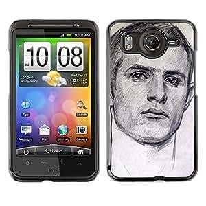 A-type Arte & diseño plástico duro Fundas Cover Cubre Hard Case Cover para HTC G10 (Portrait Man Sports Drawing Painting)