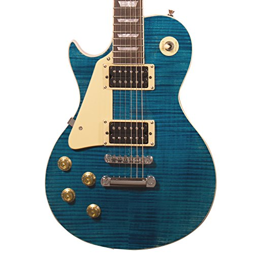 Sawtooth Heritage Series Flame Maple Top Left Handed Electric Guitar, Cali Blue Flame