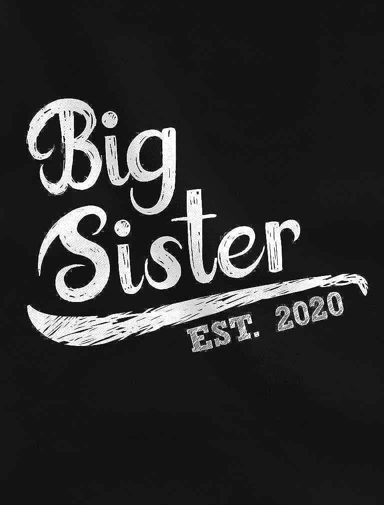 Big Sister Est 2020 Sibling Gift Idea Toddler//Kids Long Sleeve T-Shirt