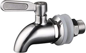CWH&WEN Kitchen Faucets, Stainless Steel Beverage Dispenser Replacement Spigot Juice Cold Drink Wine Barrel Faucet for Home and Party Use, Polished Finish