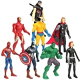 RVold 8 In 1 Twist and Move Avengers Super Heroes Action Figure Play Set and Cake Topper(Multicolour) -Set of 8