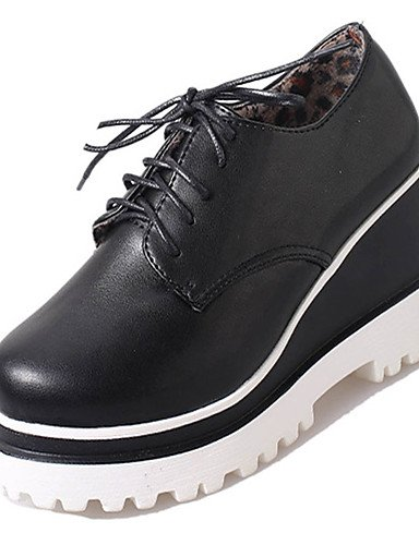 Uk6 pu Eu39 cu as negro tac¨®n White Cu Zq Zapatos Blanco Mujer Cn39 us8 casual a tacones De Zxa1v