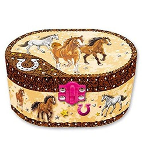 Oval Music Jewelry Dashing Horse product image