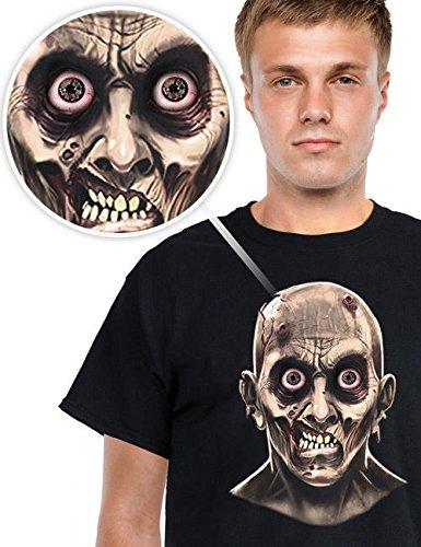 Digital Dudz Moving Eyes T-Shirt Halloween Frantic Zombie