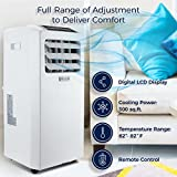 DELLA | 10000 BTU Portable Air Conditioner | Cooling Fan | Dehumidifier | A/C Remote Control | Window Vent Kit | White