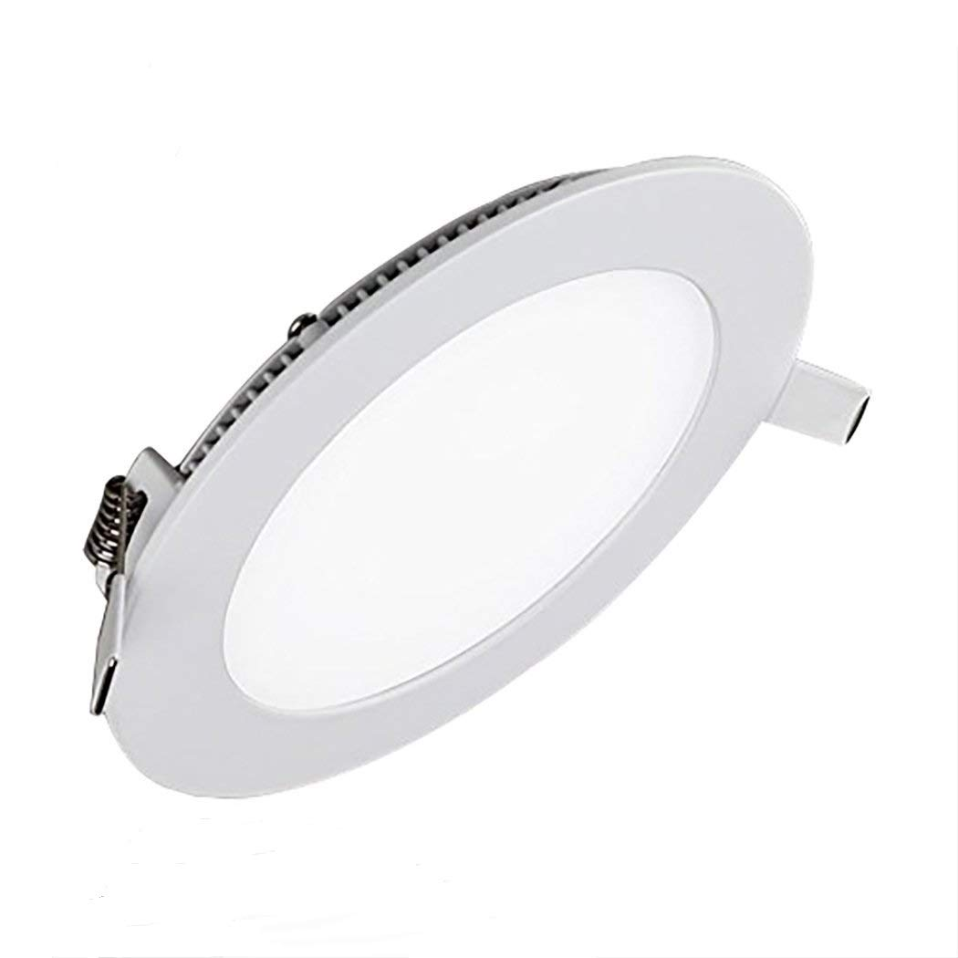 LED Panel Light Dimmable 12W 3000k 960LM Round LED Recessed Lighting, Cut Hole: 6.1-Inch Ultra-thin LED Kitchen Light Fixture with Isolated Power