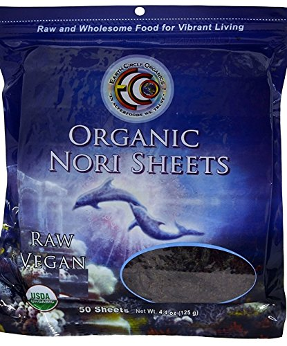 Earth Circle Organics Nori Seaweed, 50 Sheets