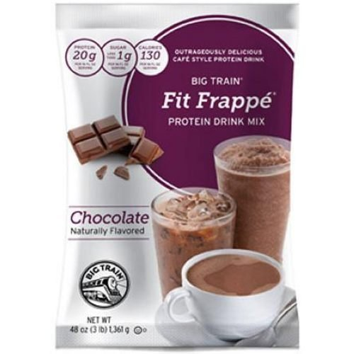 Big Train Fit Frappe Chocolate Protein Drink Mix, 3 Pound -- 4 per case. by Kerry Food and Beverage by Kerry Food and Beverage