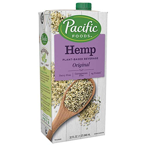 Pacific Foods Hemp Original Plant-Based Beverage, 32oz, 12-pack