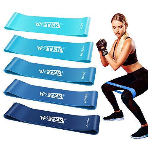 Comprar ISUDA Bandas Elasticas Fitness - Cintas Musculacion - Bandas De Resistencia para Yoga,Fuerza,Fisioterapia,Crossfit,Pilates,Estiramientos >>>