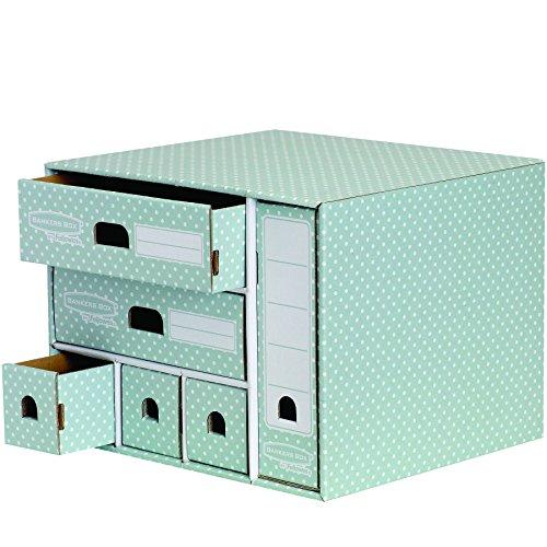 M/ódulo con 4 cajones verde y blanco Bankers Box Style