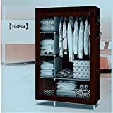 GTC 4+1+1 Layer Fancy And Portable Foldable Closet Multipurpose Wardrobe (Need To Be Assembled) 105NT (Brown)