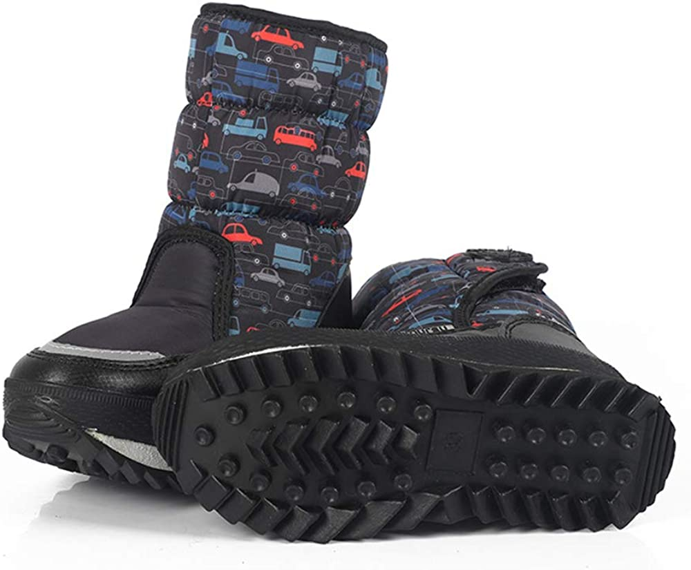 Toddler//Little Kid//Big Kid zgshnfgk Boys /& Girls Snow Boots Winter Waterproof Slip Resistant Cold Weather Shoes