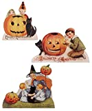 Happy Halloween Wood Dummy Boards Children Set of 3 Bethany Lowe New