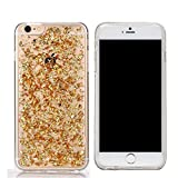 Iphone 6Plus/6S Plus (5.5-inch) case,KoalaGroup 24 karat gold transparent TPU soft case fragments personality protective sleeve Clear Bumper Case Cover (Gold)