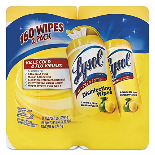 Lysol Disinfecting Wipes, Lemon & Lime Blossom, 160ct (2X80ct)
