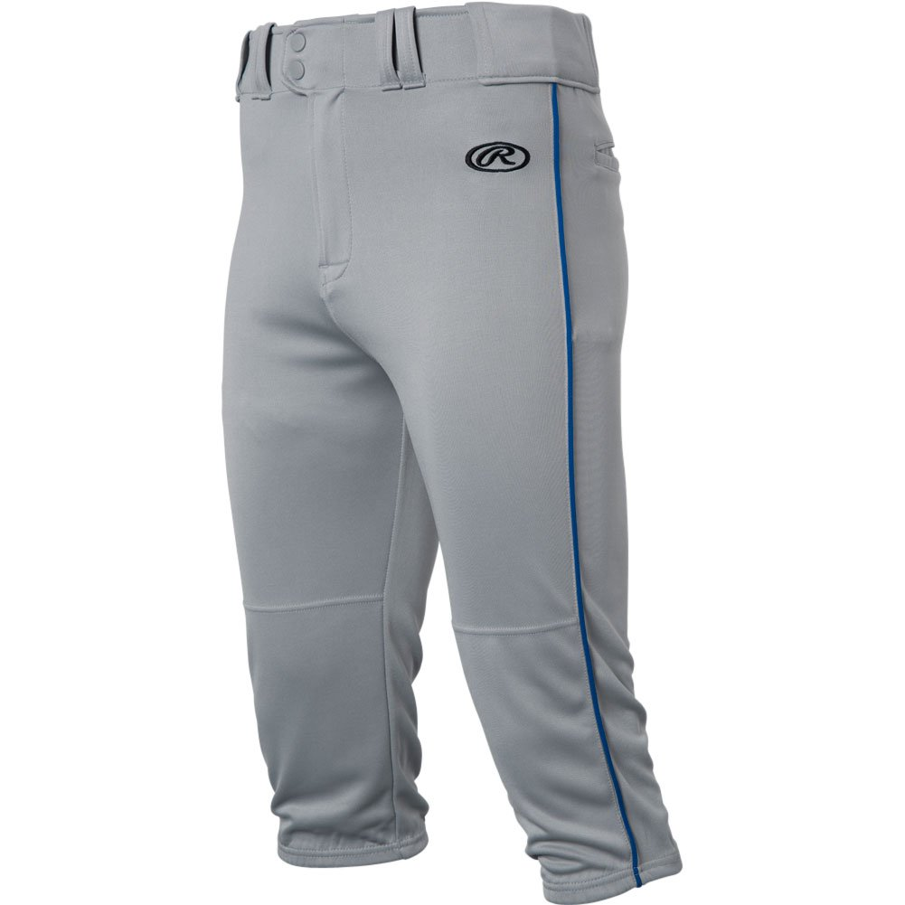 RawlingsメンズLaunch Piped Knickerパンツ B0777XRVB4 Small|Grey|Royal Grey|Royal Small