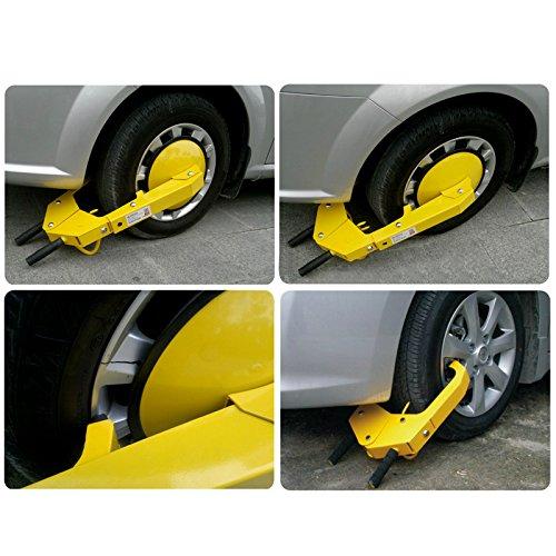 COOCHEER Heavy-duty Car Tire Wheel Lock Anti-theft Lock (large) by COOCHEER (Image #7)