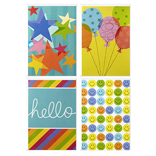 (Assorted Blank Inside Greeting Cards, Hallmark (Cheerful Designs, 12 Cards and Envelopes))
