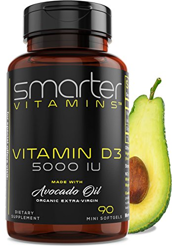 Vitamin D3 5000 IU – USDA Certified Organic Avocado Oil, 90 Mini Softgels, Non-GMO, Soy Free, Gluten Free, Supports Immune Function & Healthy Bones + Teeth Review