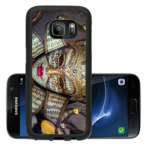 Liili Premium Samsung Galaxy S7 Aluminum Backplate Bumper Snap Case ID: 27233723 Right hand made Venetian mask - Costume Carnevale Originale