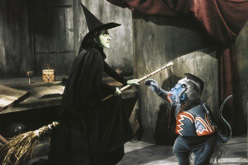 The Wizard Of Oz 24X36 Poster Wicked Witch Maragret Hamilton & Nikko the Winged - Witch Winged