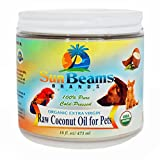 Image of Coconut Oil for Pets - Best Premium Quality, 100% Pure,Organic, Raw, Oil for Dogs Coats, Itches, Hot Spots, Paws, Fleas, Digestion